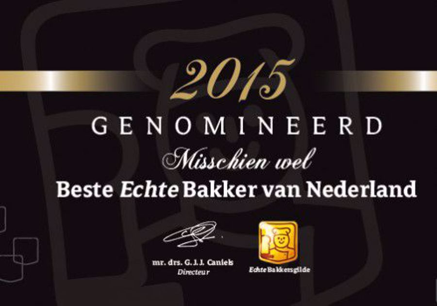 Genomineerd voor Beste Echte Bakker 2015