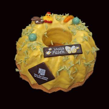 Afbeeldingen van Cake tulband geel