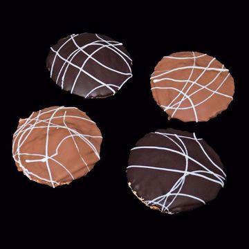 Afbeeldingen van Gevulde bitterkoek melk/puur per 4 stuks