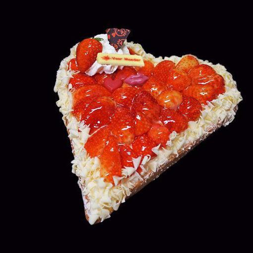 Afbeelding van Vaderdag hartvlaai aardbei